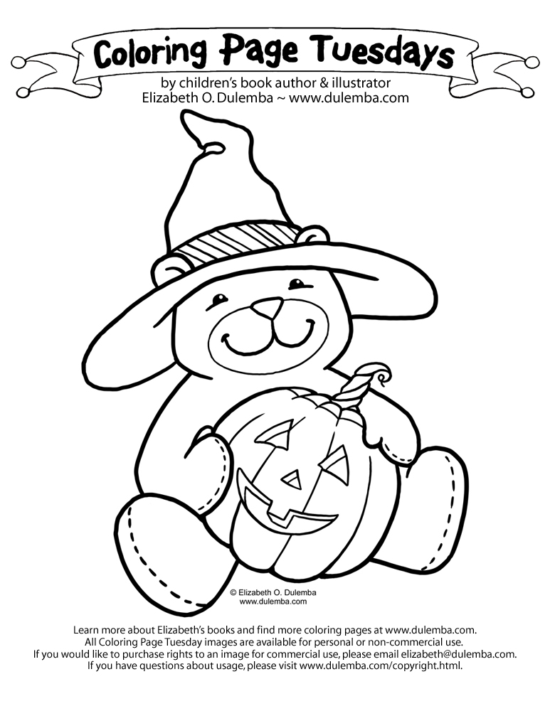 dulemba Coloring Page Tuesdays Halloween Bear