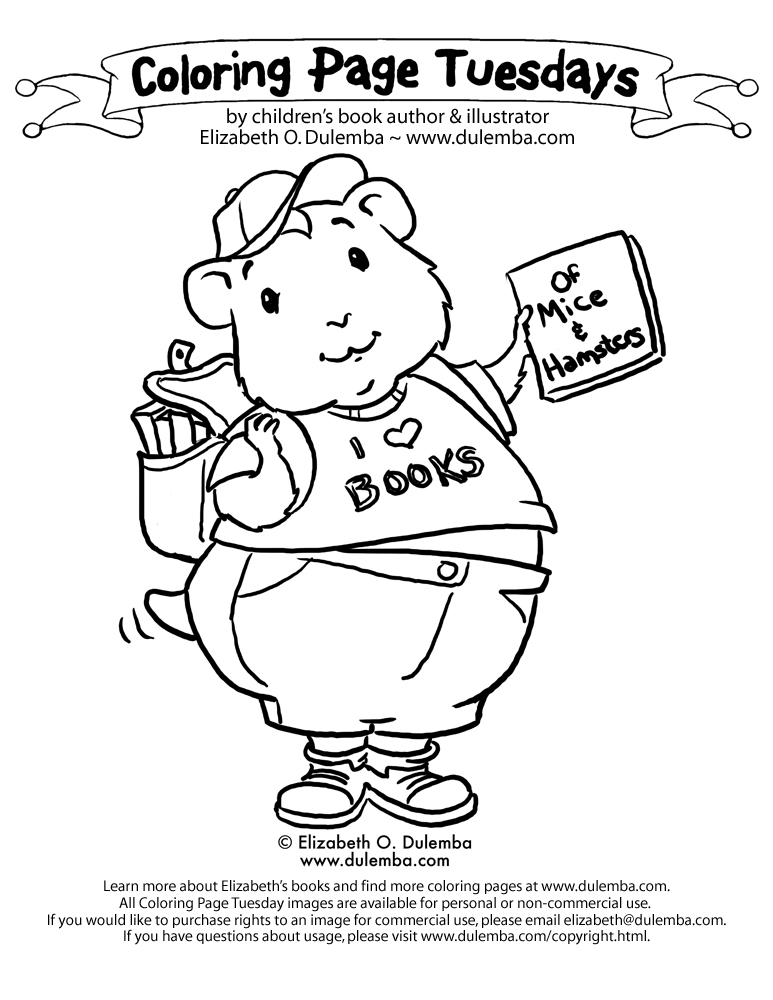 Coloring Page Tuesday! - Hamster title=