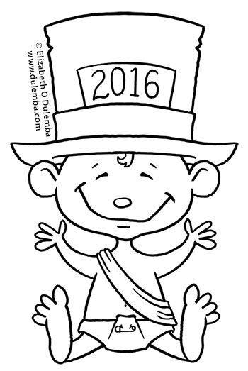 dulemba: Coloring Page Tuesday - Happy 2016!!!
