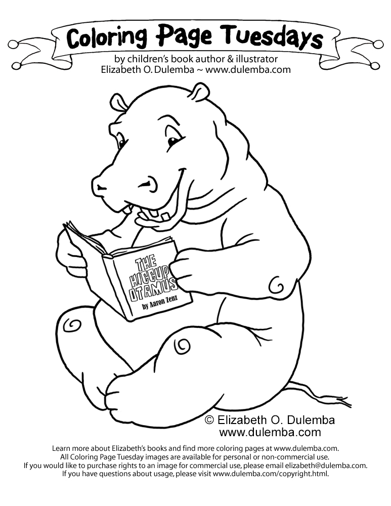 h is for hippo coloring pages - photo #13