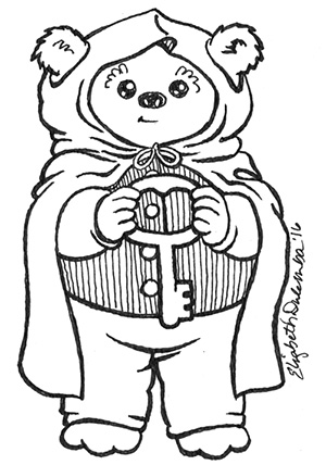 dulemba: Coloring Page Tuesday - Hobbit Ewok