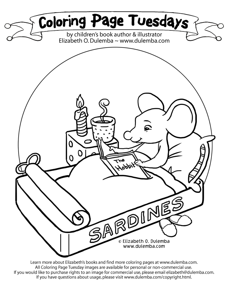 Coloring page tuesday hobbit mouse