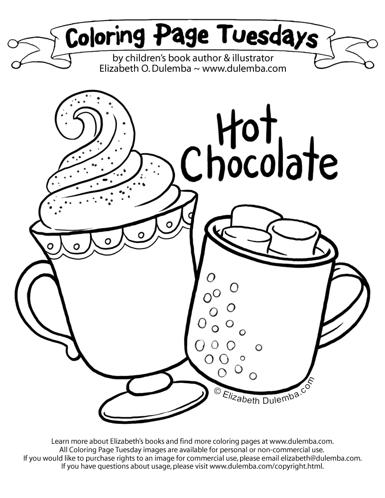 hot chocolate coloring page.html