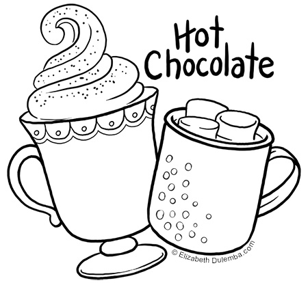 dulemba: Coloring Page Tuesday - Hot Chocolate