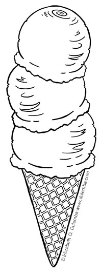 coloring page tuesday ice cream cone