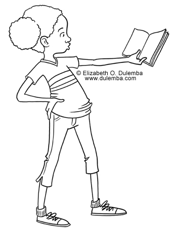 dulemba: Coloring Page Tuesday - Opinionated Reader
