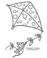 Let's go fly a kite! coloring page - Print. Color. Fun! | 200x165