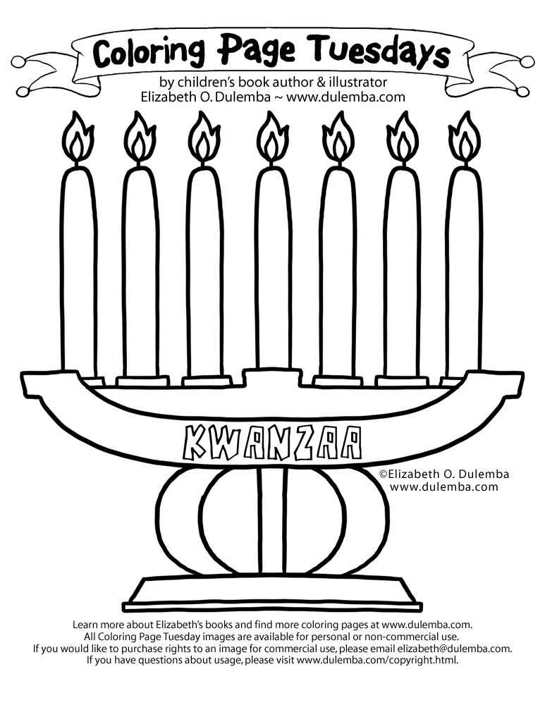 dulemba Coloring Page Tuesdays Kwanzaa and New Years