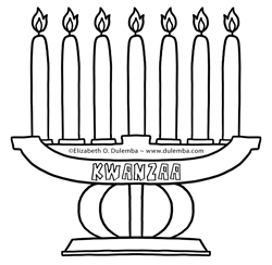 dulemba: Coloring Page Tuesdays - Kwanzaa and New Years!