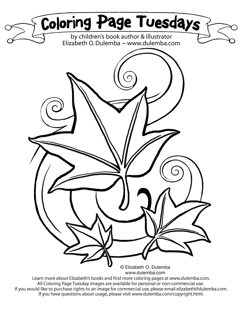 dulemba: Coloring Page Tuesday! - Fall Leaves
