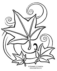 Dulemba Coloring Page Tuesday  Fall Leaves