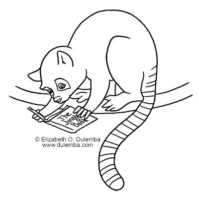 dulemba Coloring Page Tuesday L is for Lemur