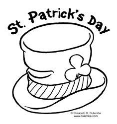 dulemba: Coloring Page Tuesday - St. Patrick\'s Day Top Hat