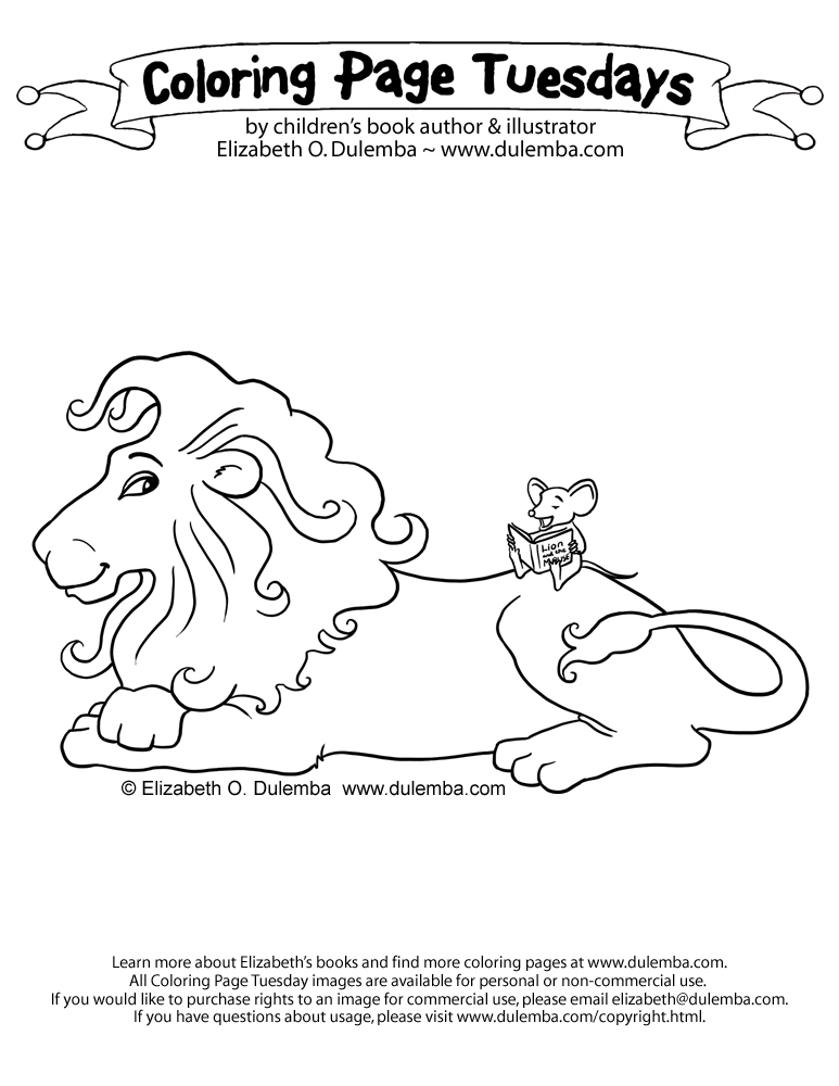 The lion and the mouse coloring pages - Hellokids.com | 1000x773