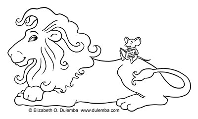 The Lion And Mouse Coloring Pages Coloring Pages