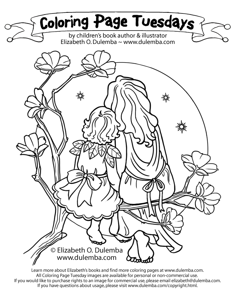 dulemba Coloring Page Tuesday Mother and Child