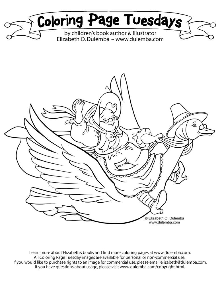 Coloring Page Tuesday - Mother Goose