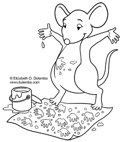 Dulemba Coloring Page Tuesday Painting Mouse