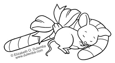Dulemba: Coloring Page Tuesday   Sleeping Mouse