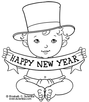dulemba Coloring Page Tuesday  Happy New Year