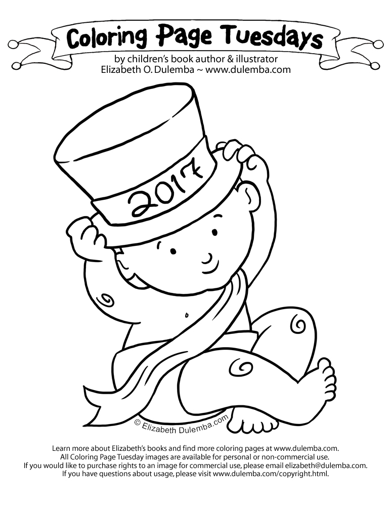 Coloring Page TUESDAY Happy New Year Thank You To All Of For Your Kind Emails And Loyal Support Throughout 2016 Im So Grateful Every One