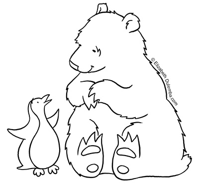 - Dulemba: Coloring Page Tuesday - Polar Opposites