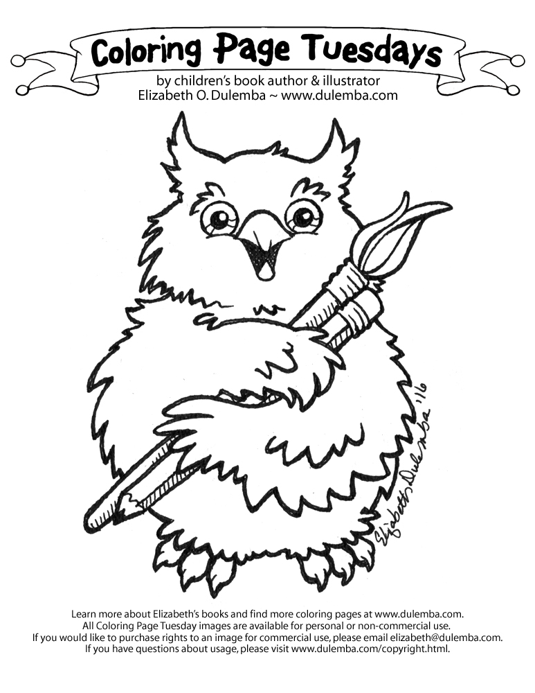 Coloring Page Tuesday