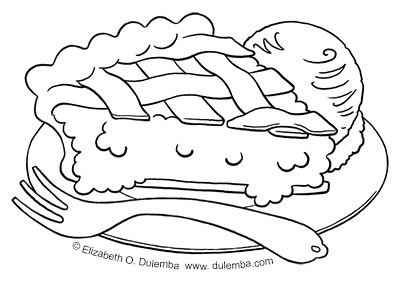coloring page tuesday 8th anniversary pie
