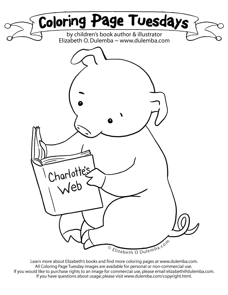 dulemba: Coloring Page Tuesday - Piggie and Charlotte