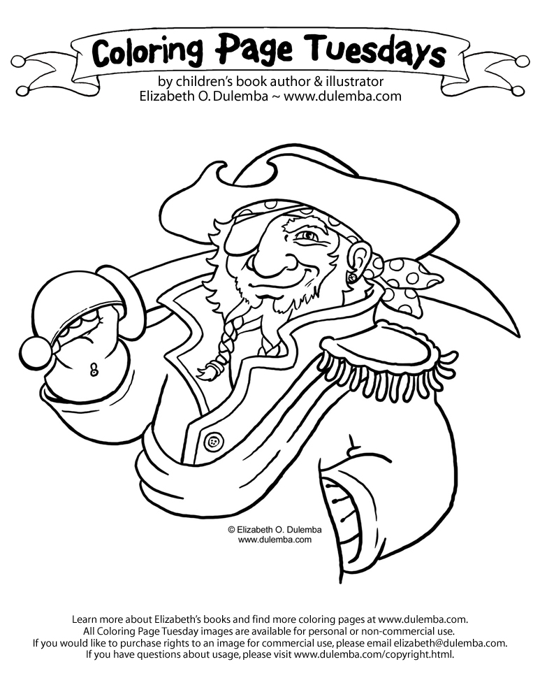 dulemba pirate coloring pages - photo#7