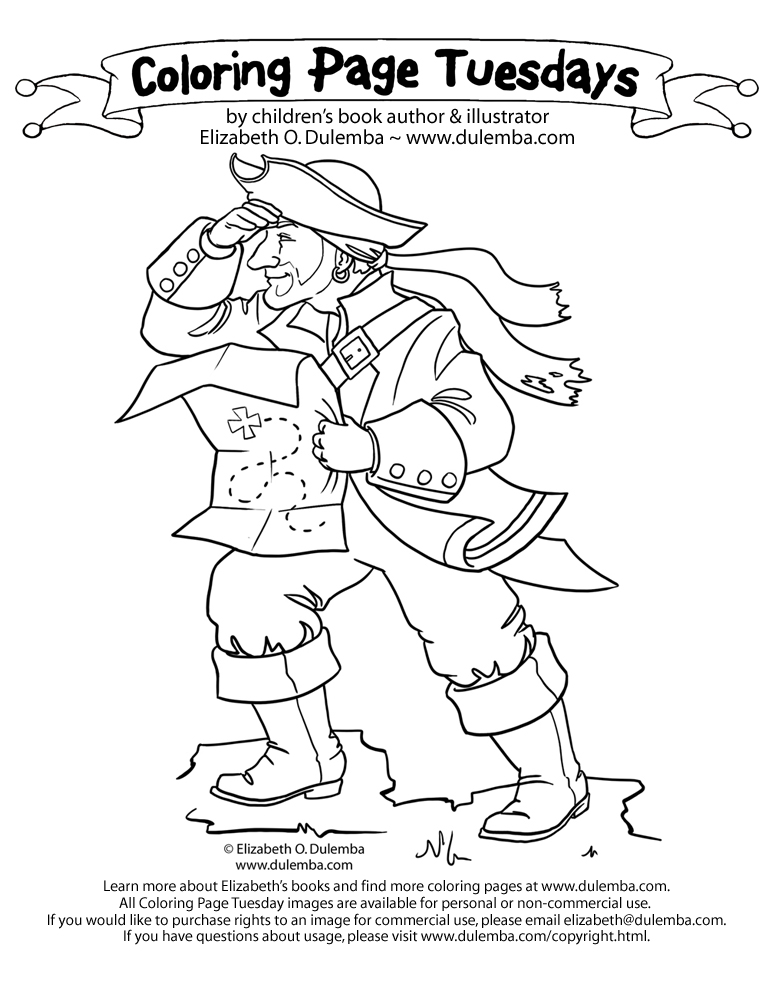 dulemba pirate coloring pages - photo#5