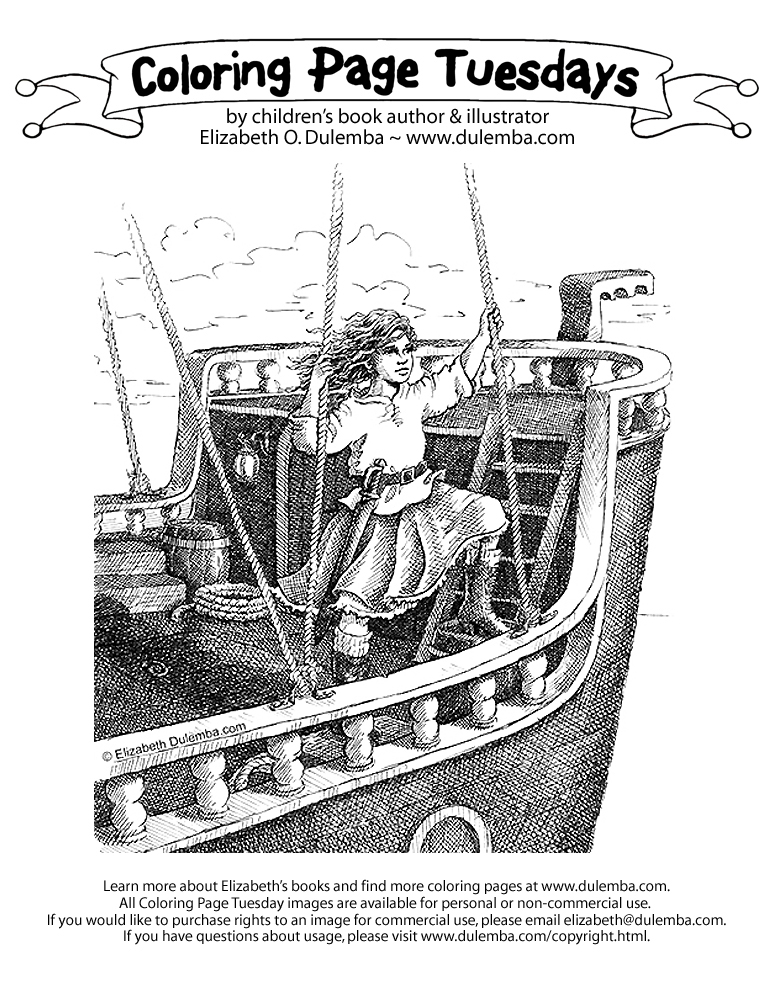 dulemba pirate coloring pages - photo#9