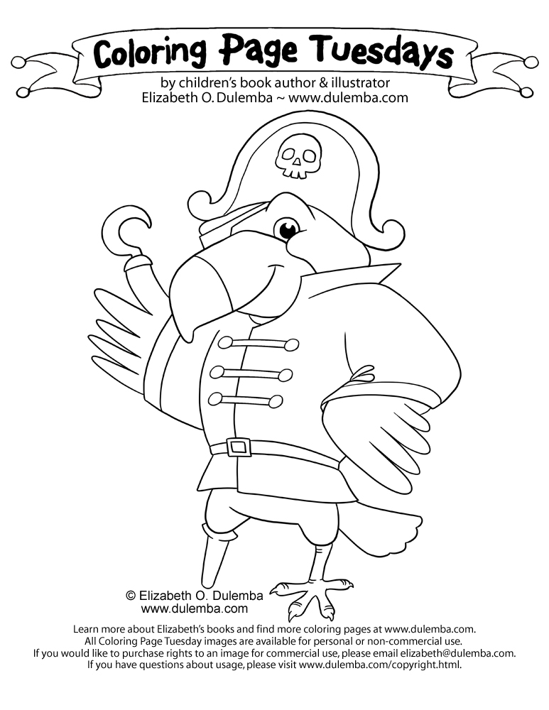 coloring pages pirate parrot - photo#22
