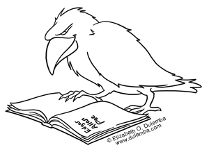 dulemba Coloring Page Tuesday Poes Raven
