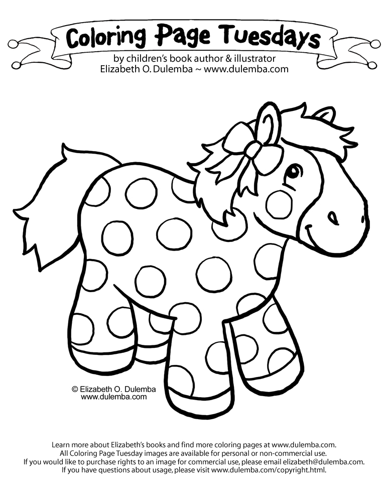 Coloring Page Tuesday - Pretty Pony