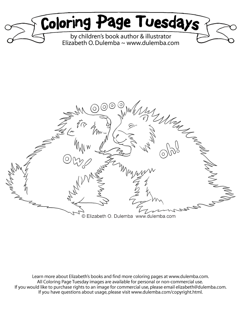 porcupine coloring page.html