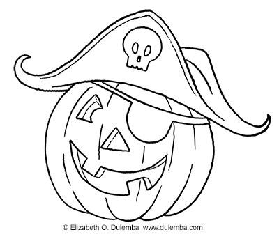 dulemba: Coloring Page Tuesday - Pumpkin Pirate!