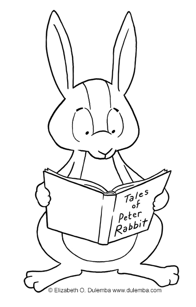 Spring Has Sprung And Bunnies Abound How Would You Feel Reading The Tales Of Peter Rabbit If Were A Bunny CLICK HERE For More Easter Coloring Pages