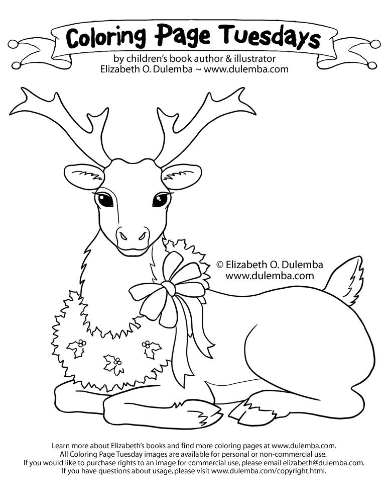 reindeer color page.html