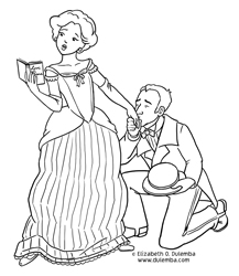 dulemba Coloring Page Tuesday Romance Reader