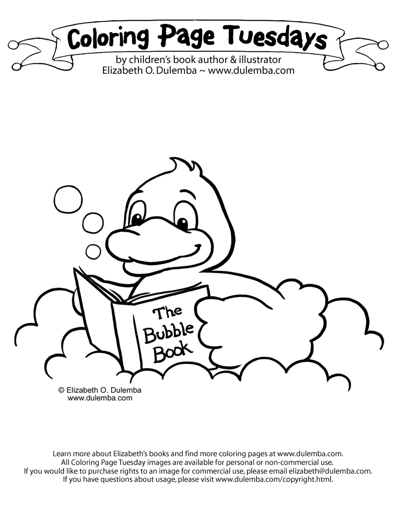 Free Printable Coloring Page Rubber Duckie
