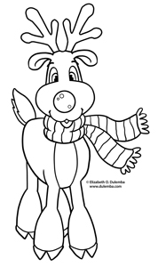 dulemba Coloring Page Tuesday  Rudolph