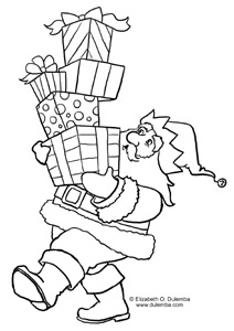 coloring page tuesday too many presents