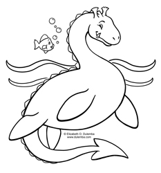 Ocean Coloring Pages on Dulemba  Coloring Page Tuesday    Sea Serpent