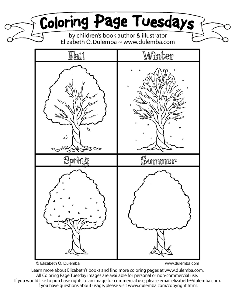 free coloring pages of the four seasons Big Four Seasons Coloring Pages  Coloring Pages Four Seasons