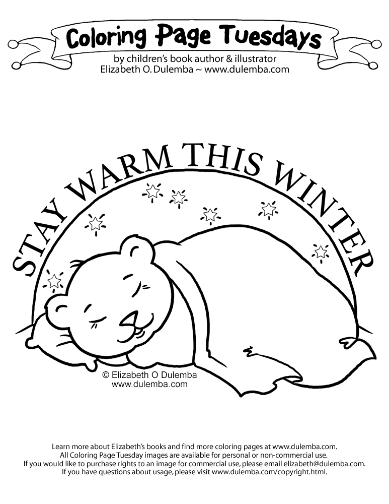 Coloring Page Tuesday - Sleeping Bear
