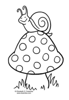 dulemba: Coloring Page Tuesday - Snail
