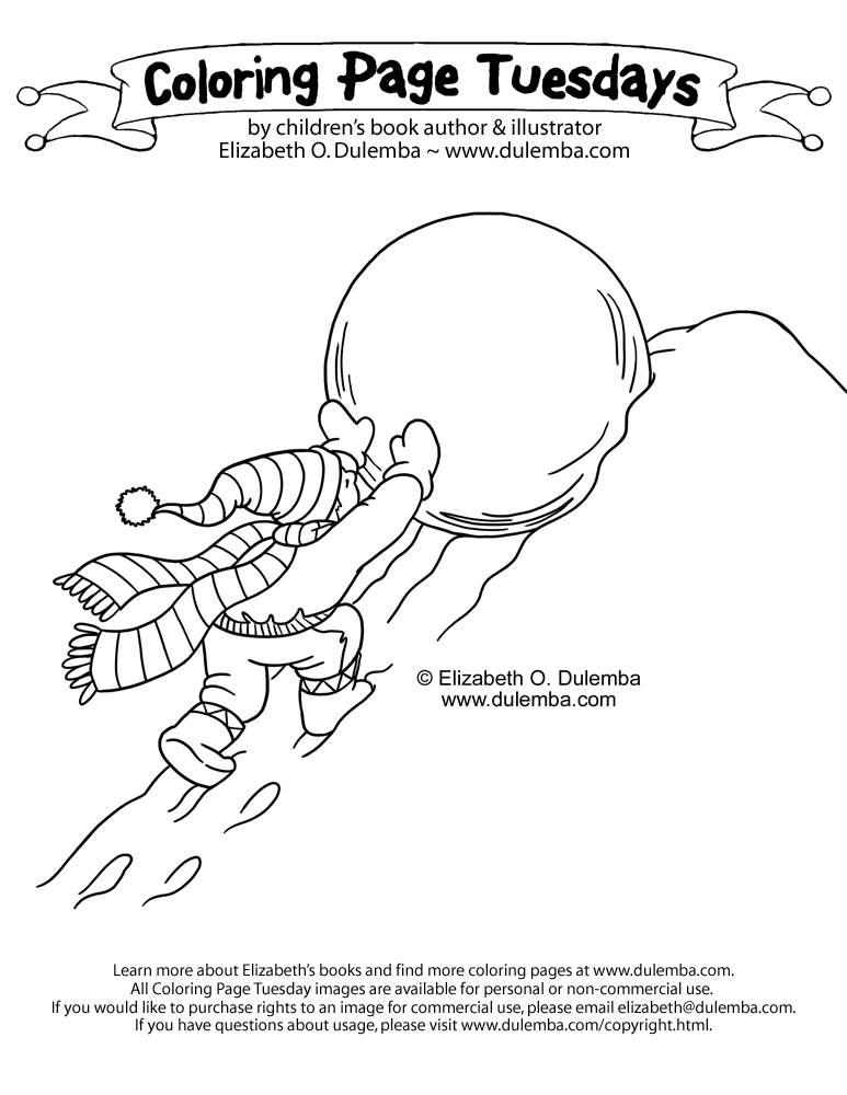 coloring page tuesday atlas and the snowball