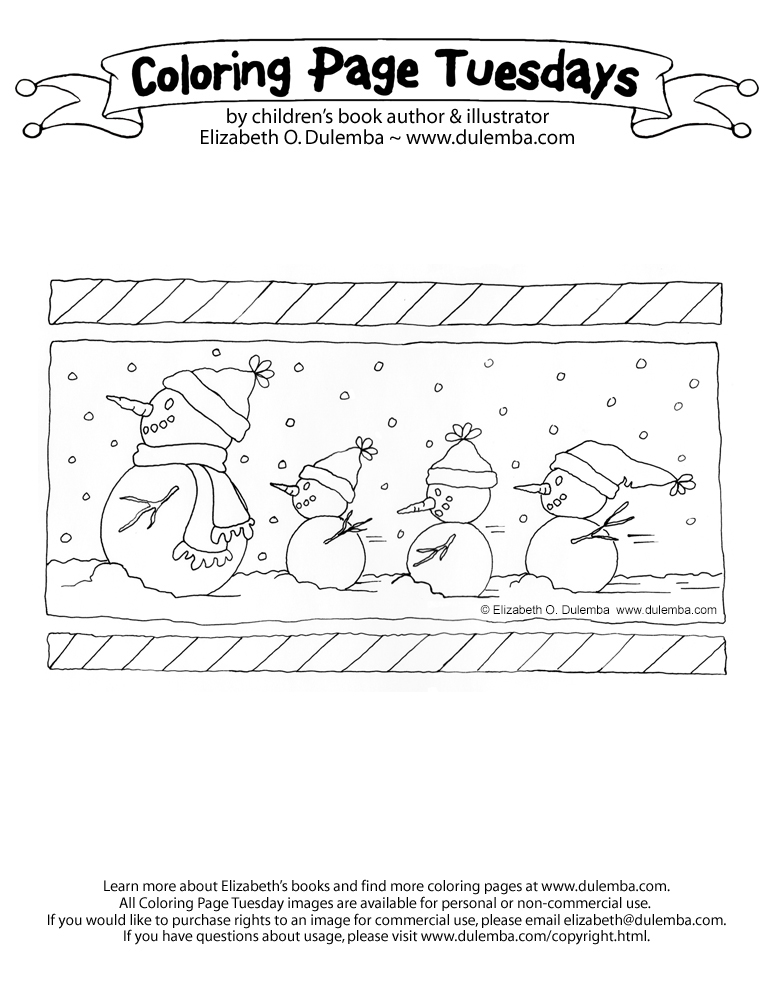 dulemba: Coloring Page Tuesday - Snowman Family!