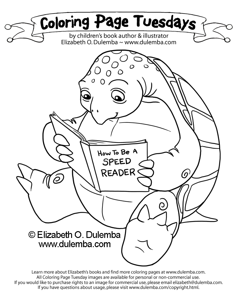 Coloring Pages Of Animals Reading : Free coloring pages of animal reading